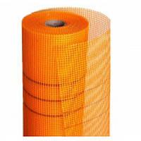 Сетка фасадная строительная армирующая Fiberglass оранж. 145гр/м2 рулон