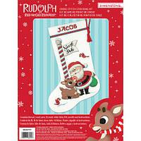 """Набор для вышивания крестом """"Рудольф//Rudolph Stocking"""" DIMENSIONS"""