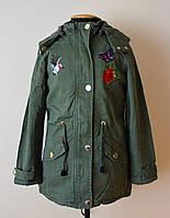 Куртка-парка, для девочки,детская,весна-осень,демисезонная