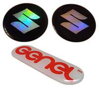 Объемные силиконовые наклейки под заказ