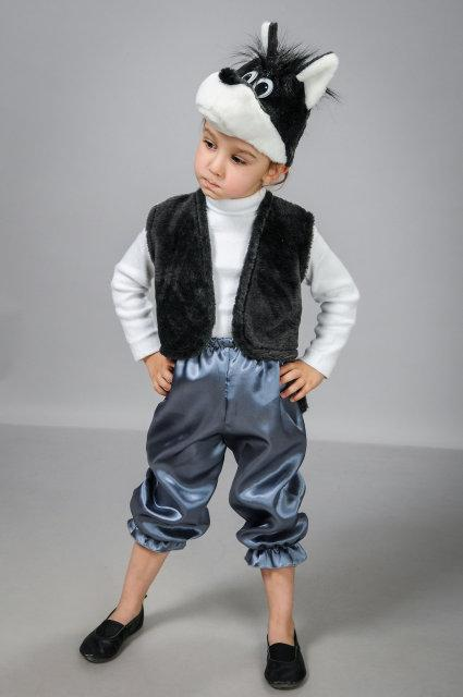 Детский карнавальный костюм Волк атлас (30-34)