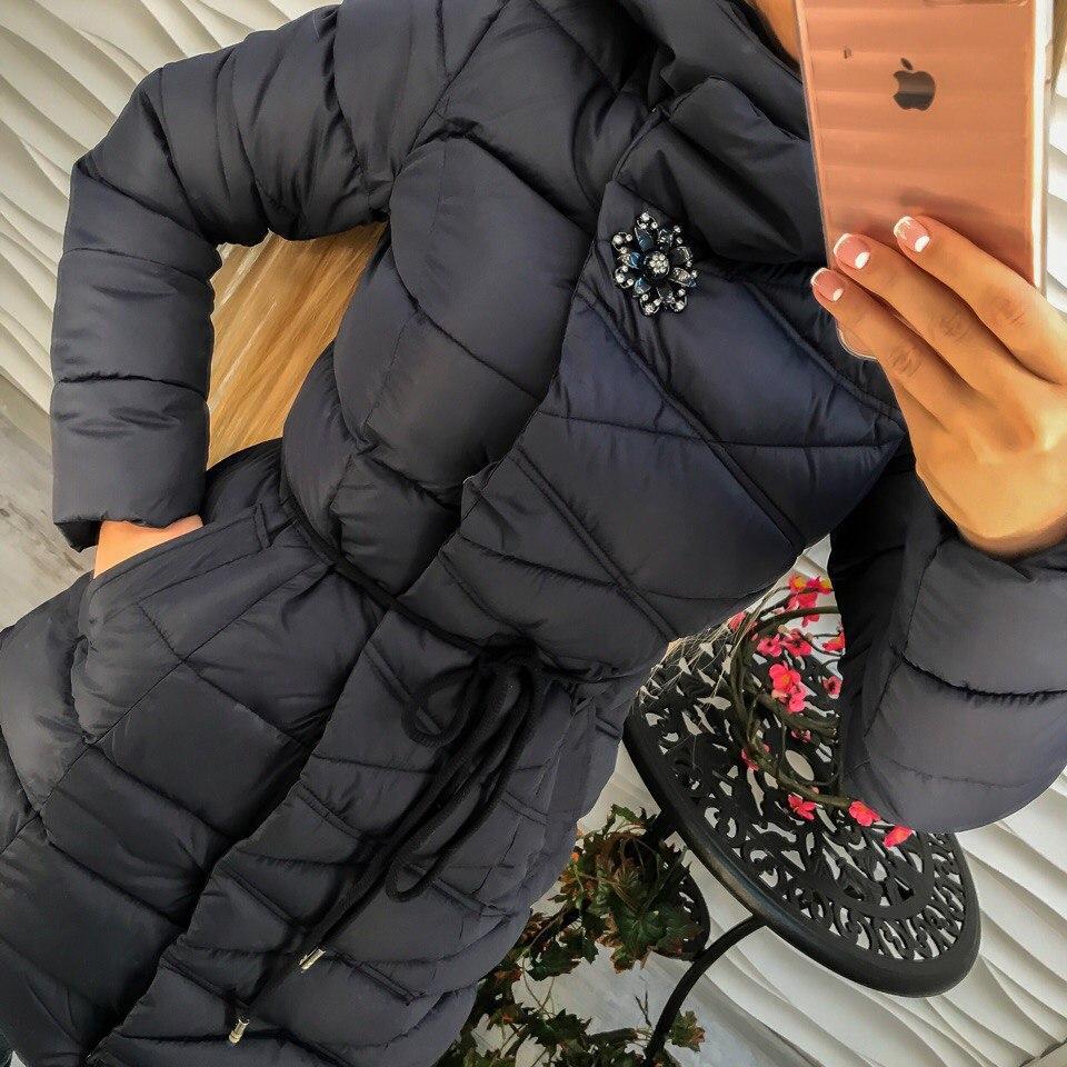 76f8df9c7c6 Куртка женская плащевка с капюшоном и брошью  продажа