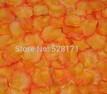 Лепестки роз декоративные оранжевые 2 упаковки 48 шт