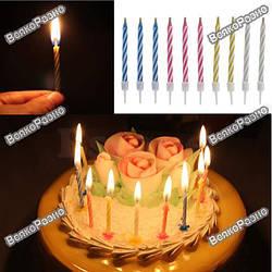 Все для праздника свечи для торта,шарики
