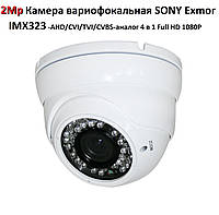 2Mp Камера вариофокальная SONY Exmor IMX323 AHD/CVI/TVI/CVBS-аналог 4 в 1 Full HD 1080P, фото 1