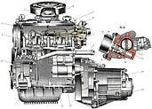 Двигатель и система охлаждения