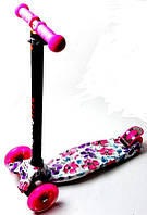 Самокат детский Maxi Цветы Маки фиолетовые