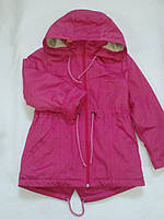 "Куртка парка для девочки на флисе ""Бемби"""
