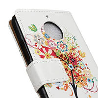 Чехол книжка TPU Wallet Printing для Motorola Moto E4 XT1762 Colorful Flower Tree