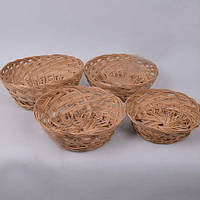 Корзины  плетенная декоративные из лозы набор 4 штуки