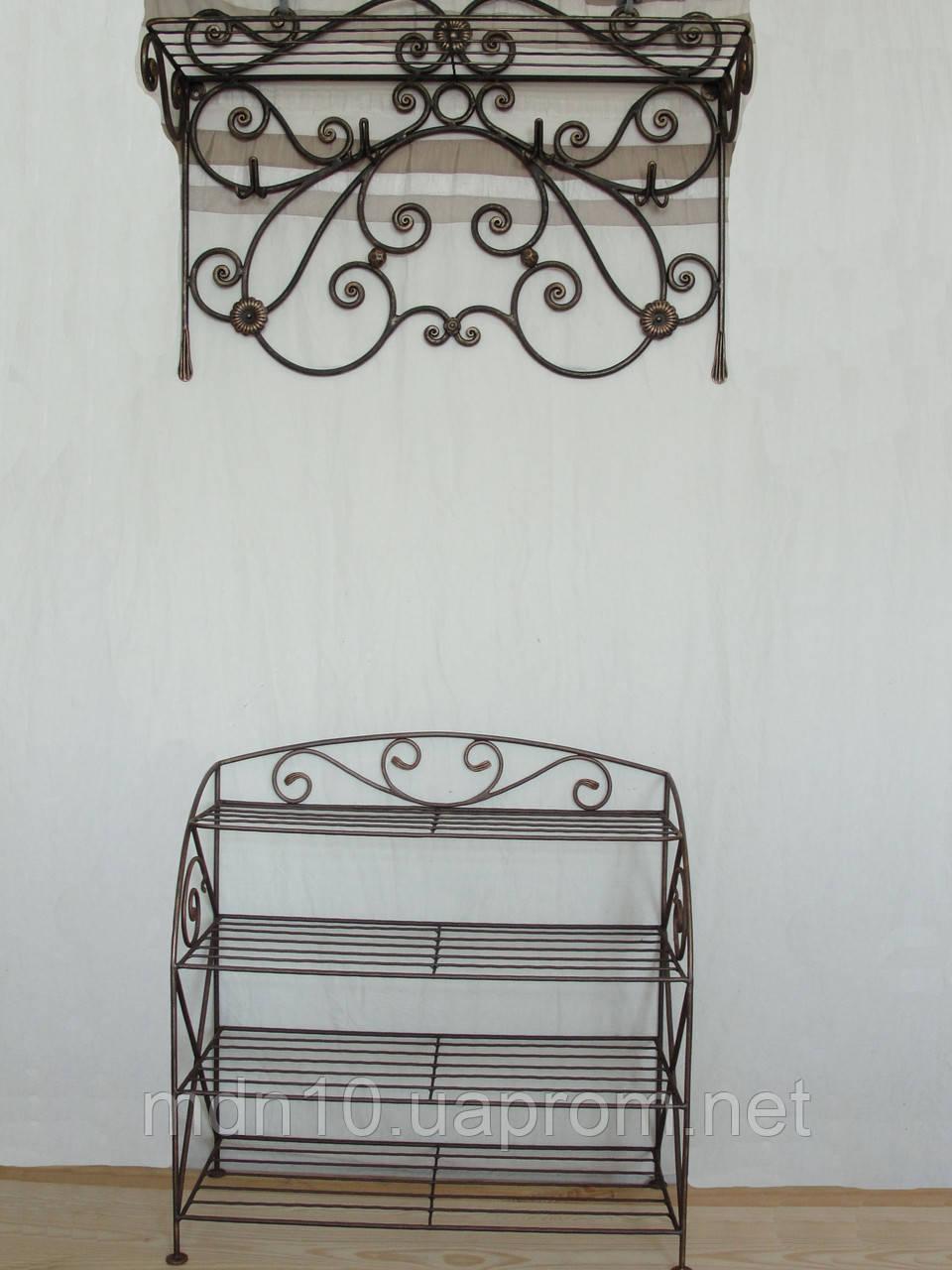 Набор кованой мебели в прихожую  -  025