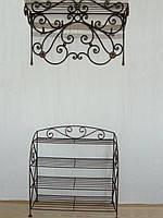 Набор кованой мебели в прихожую  -  025, фото 1