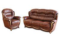 """Классический диван в комплекте с креслом """"Джове"""" (3+1)"""