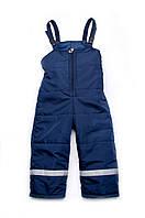 Полукомбинезон для мальчика 1-4 лет, демисезонный, темно-синий