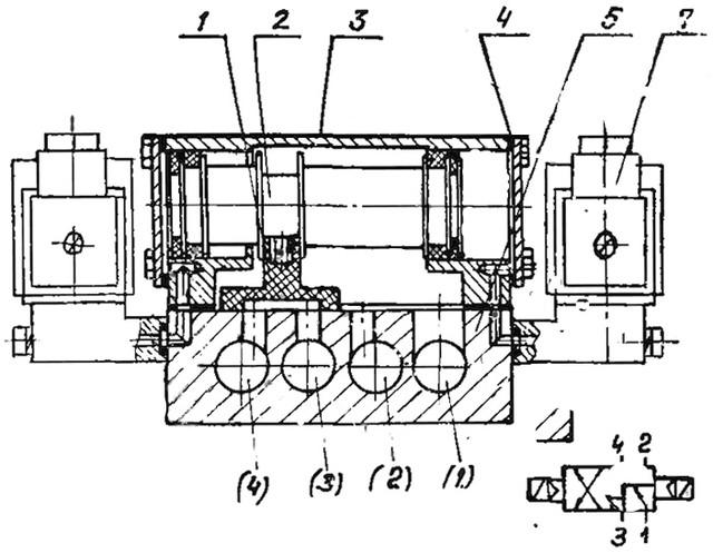 Работа пневмораспределителя В64-14А-03 и В64-14А-05