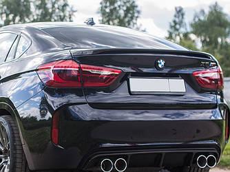 Спойлер сабля тюнинг BMW X6 F16 стиль M-Performance (пластик)