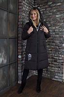 Зимнее пальто - пуховик CAROLINA ( шоколад ) код: CR010