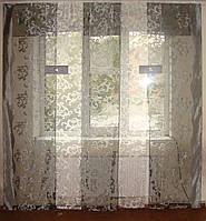 Комплект панельных шторок вензель серый, фото 1