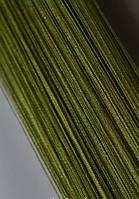 Ниточные шторы кисея болотные