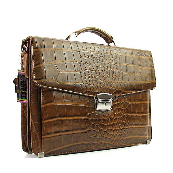 Портфель классический кожаный мужской оливковый Canpellini 2026-17