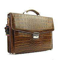 Портфель классический кожаный мужской оливковый Canpellini 2026-17, фото 1