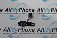 Шлейф для Meizu M1 Note коннектора зарядки, с компонентами