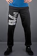 Мужские спортивные штаны с накаткой Рико, цвет черный / размерный ряд 46,48,50,52,54
