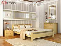 Кровать Афина тм Эстелла 160х190/200, №102 Натуральный бук, Массив бука