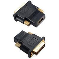 Переходник HDMI A (розетка) - DVI-D (вилка)