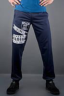 Мужские спортивные штаны с накаткой Рико, цвет синий / размерный ряд 46,48,50,52,54