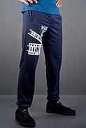Мужские спортивные штаны с накаткой Рико, цвет синий / размерный ряд 46,48,50,52,54, фото 2
