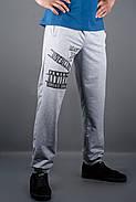 Мужские спортивные штаны с накаткой Рико, цвет серый / размерный ряд 46,48,50,52,54, фото 2