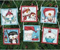 Набор для вышивки нитками новогодних игрушек 70-08940. РОЖДЕСТВЕНСКИЕ УКРАШЕНИЯ. ЛЕДЯНЫЕ ДРУЗЬЯ