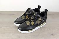 Кроссовки мужские Nike Air Jordan 4 Retro 18032 золотисто-черные