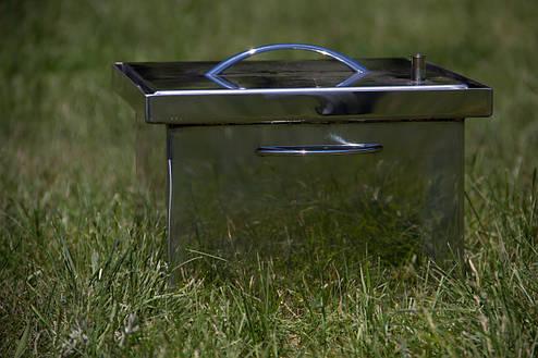 Коптильня горячего копчения из нержавеющей стали, фото 2