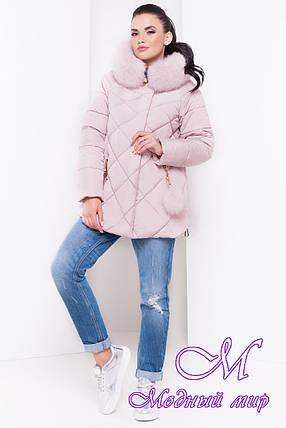 Жіноча тепла зимова куртка з великим хутром (р. XS, S, M, L, XL) арт. Єва 16458, фото 2