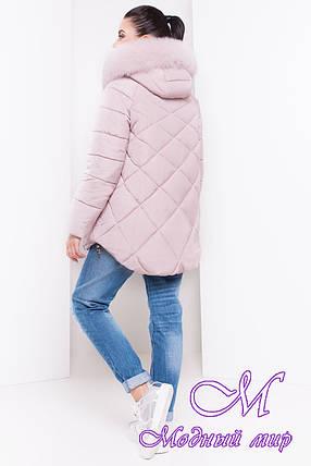 Женская теплая зимняя куртка с большим мехом (р. XS, S, M, L, XL) арт. Ева 16458, фото 2