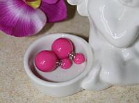 Розовые серьги пуссеты Dior