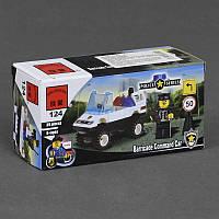 """BRICK 124 (200) """"Полицейская машина"""" 39 дет, в коробке"""