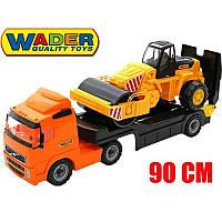 Большой автомобиль  - трейлер Volvo + дорожный каток Wader 36902