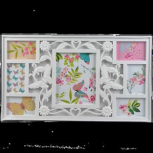 Мультирамка для девочки с бабочками на 7 фотографий
