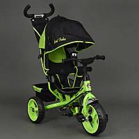 Велосипед 6570 3-х колёсный Best Trike (1) САЛАТОВЫЙ, переднее колесо 12 дюймов d=28см, заднее 10 дюймов d=24см, ПЕНА