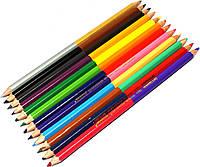 Карандаши акварельные цветные 2-х-цветные Marco Grip-rite 12шт.уп. 24 цвета