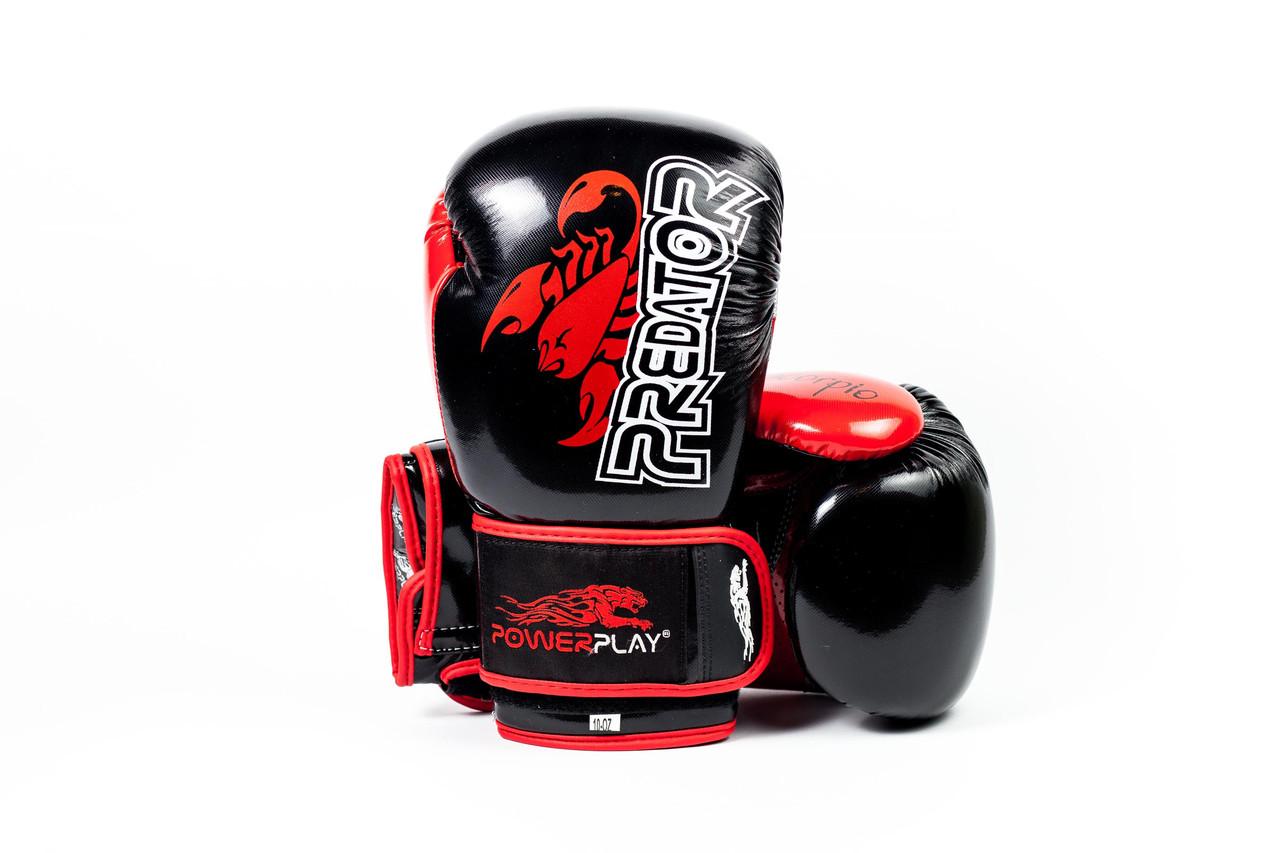 Перчатки боксерские Powerplay 3007 / PU/Scorpio/black 12oz