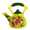 Чайник заварочный керамический авторский дизайн ручная роспись Астра желтый 700мл 9668