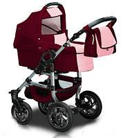 Универсальная коляска 2 в 1 Trans Baby Jumper 2/46 Burgundy / Pink