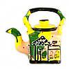 Чайник заварочный керамический авторский дизайн ручная роспись Город желтый 500мл 9671
