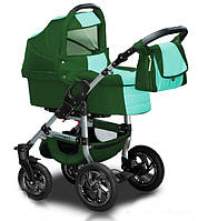 Универсальная коляска 2 в 1 Trans Baby Jumper 30/x99 Dark Green / Turquoise