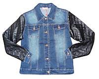 Куртка джинсовая для девочек оптом, S&D, 4-14 лет,  № KK-G23