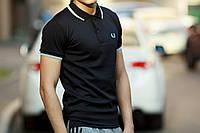 Мужская черная футболка поло Fred perry